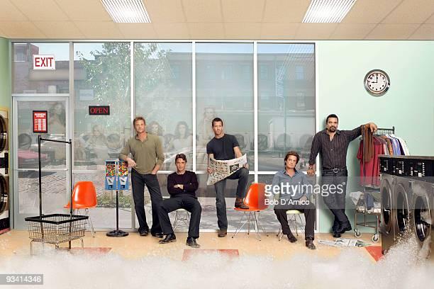 "Desperate Housewives"" stars Doug Savant as ""Tom Scavo,"" Dougray Scott as ""Ian Kavanaugh,"" James Denton as ""Mike Delfino,"" Kyle MacLachlan as ""Orson..."