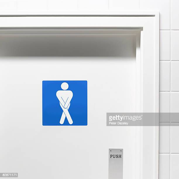 Desperate man toilet door sign