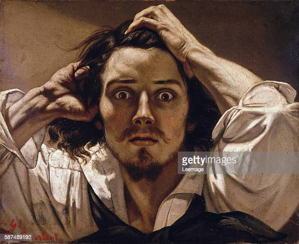 Desperate Selfportrait circa 18431845 by Gustave Courbet 18191877 45x54 cm private collection