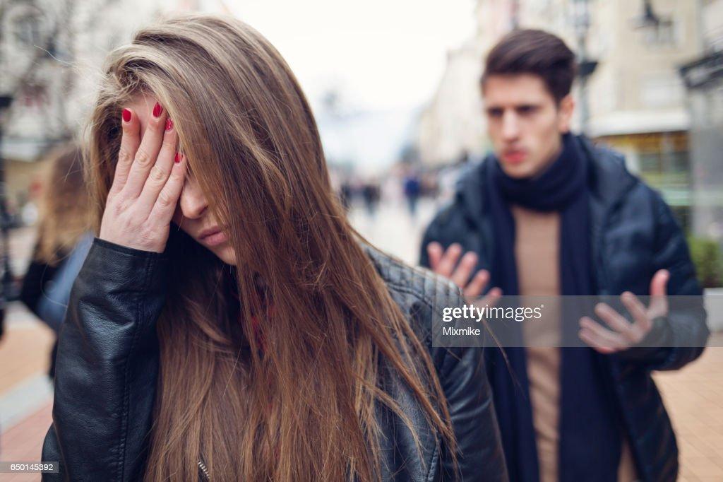 Desperation in relationship : Stock Photo