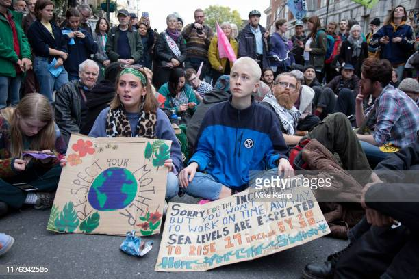 Despite a directive from the police not to gather Extinction Rebellion take over Whitehall in a sit down protest where large numbers were arrested on...
