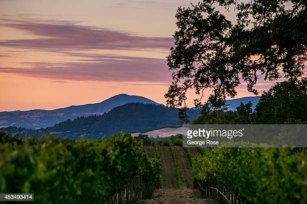Despite the current drought conditions Wine Country has experienced a number of spectacular sunsets due to subtropical moisture as viewed on July 19...