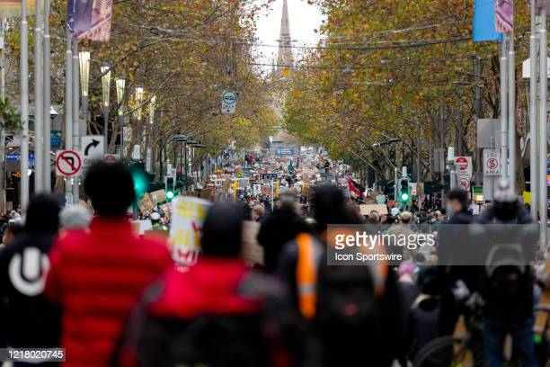 Despite warnings from the Police that protesters would be fined for braking COVID-19 regulations, thousands of people, all wearing facemasks, turned...