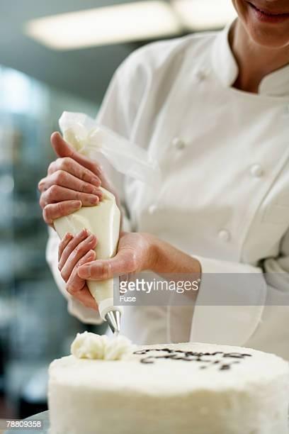 Dessert Chef Making Cake