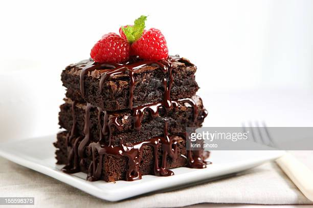 dessert - chocolate cake - brownie stock pictures, royalty-free photos & images