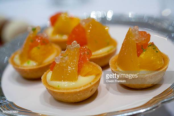 dessert during luncheon service at Restaurant Alain Ducasse, Hotel Plaza Athenee, Paris