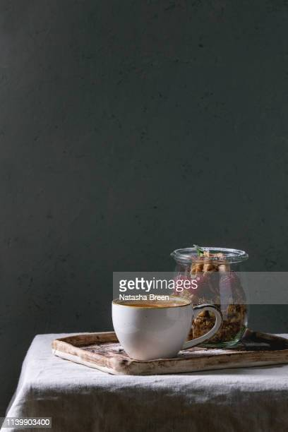 dessert in jar - mascarpone cheese stock pictures, royalty-free photos & images