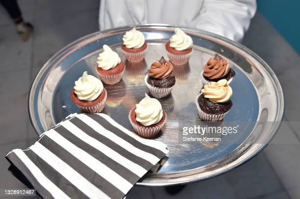 Desserts are seen during the celebration of Chrishell Stause's DSW Fun, Flirty Capsule Collection at Sunset Tower Hotel on July 14, 2021 in Los...