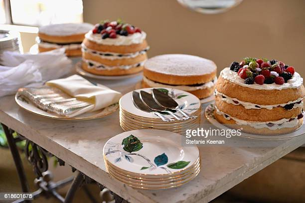 Desserts on display at the CFDA/Vogue Fashion Fund Show and Tea presented by kate spade new york at Chateau Marmont on October 26 2016 in Los Angeles...