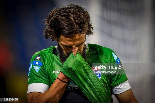 Destan Bajselmani of PEC Zwolle during the Dutch Eredivisie match between RKC Waalwijk v PEC Zwolle at the Mandemakers Stadium on October 21, 2020 in...