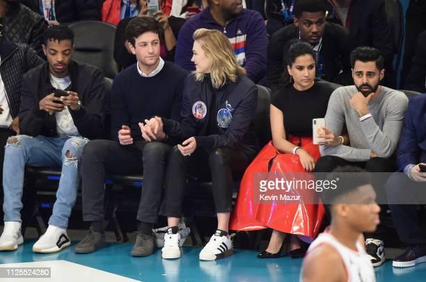 Destin Christopher Tucker Joshua Kushner Karlie Kloss Beena Patel and Hasan Minhaj attend the 68th NBA AllStar Game at Spectrum Center on February 17...