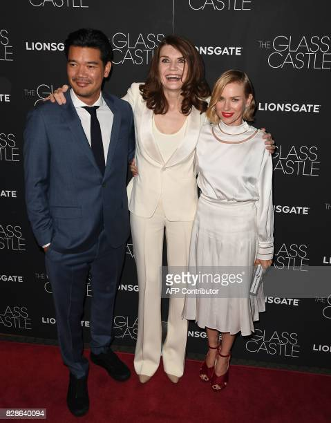 Destin Daniel author Jeanette Walls and Naomi Watts attend 'The Glass Castle' New York screening at SVA Theatre on August 9 2017 in New York City /...