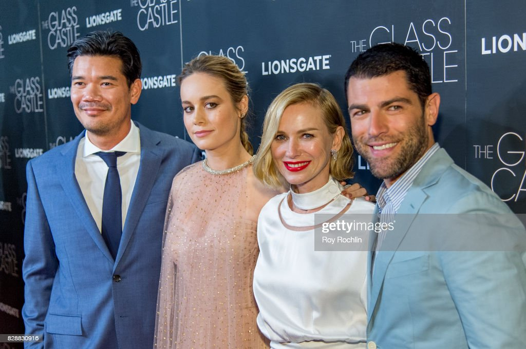 Destin Daniel, Brie Larson, Naomi Watts and Max Greenfield attend 'The Glass Castle' New York screening at SVA Theatre on August 9, 2017 in New York City.