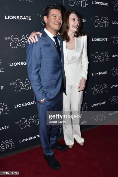 Destin Daniel Cretton and Jeannette Walls attend The Glass Castle New York Screening at SVA Theatre on August 9 2017 in New York City