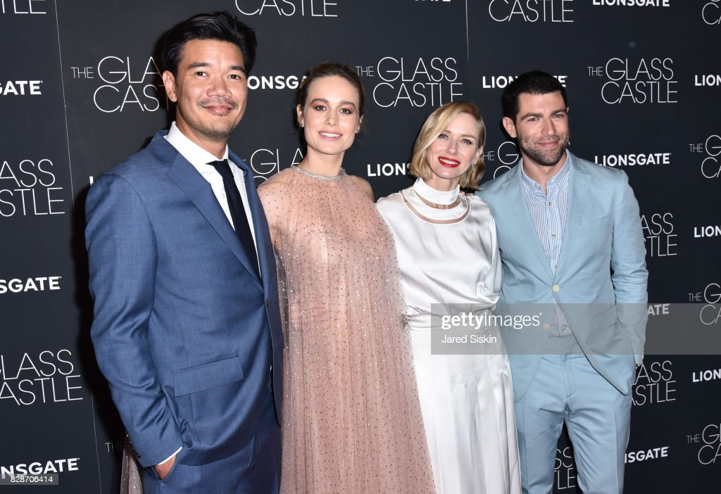 Destin Daniel Cretton, Brie Larson, Naomi Watts and Max Greenfield attend 'The Glass Castle' New York Screening at SVA Theatre on August 9, 2017 in New York City.