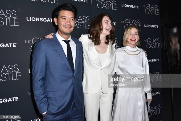 Destin Daniel Cretton Jeannette Walls and Naomi Watts attends The Glass Castle New York Screening at SVA Theatre on August 9 2017 in New York City