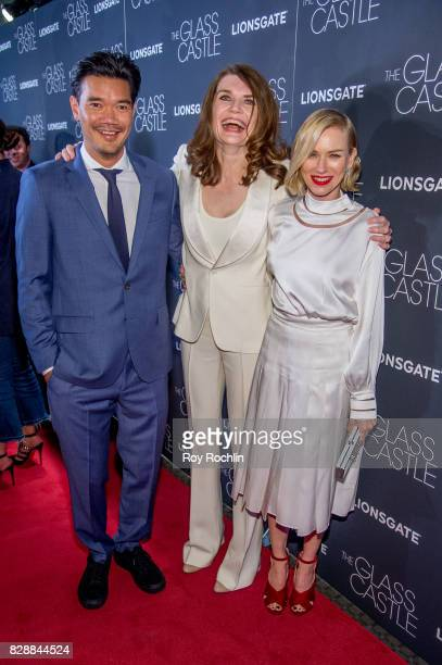 Destin Daniel Jeanette Walls and Naomi Watts attend The Glass Castle New York screening at SVA Theatre on August 9 2017 in New York City