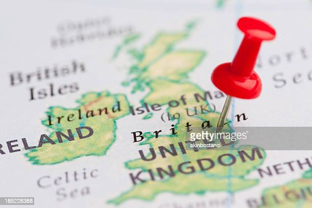 destination united kingdom - maps stock photos and pictures