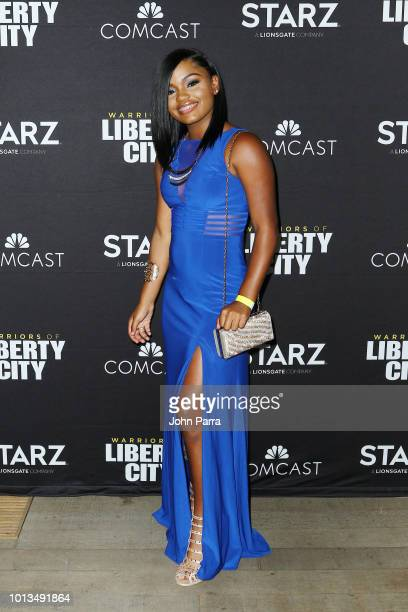 Destiny Martinez attends Miami Screening Of STARZ 'Warriors Of Liberty City' on August 8 2018 in Miami Florida