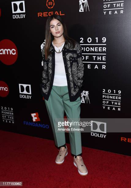 Destiny Rogers arrives at the Will Rogers 78th Annual Pioneer Dinner Honoring Elizabeth Banks at The Beverly Hilton Hotel on September 25 2019 in...