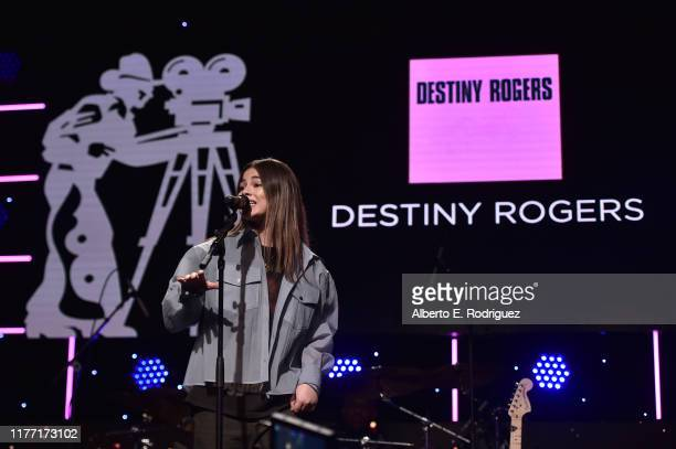 Destiny Rogers attends the Will Rogers 78th Annual Pioneer Dinner Honoring Elizabeth Banks at The Beverly Hilton Hotel on September 25 2019 in...