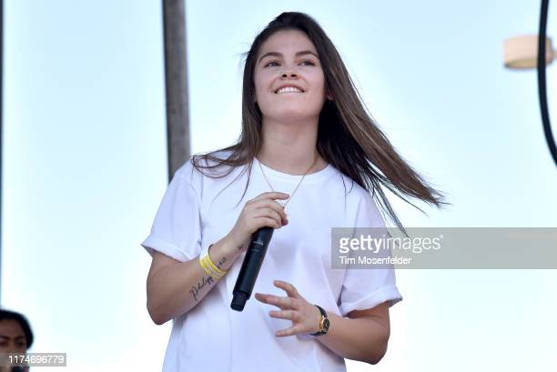 Destiny Rogers performs during the Lights On Festival at Concord Pavilion on September 14 2019 in Concord California