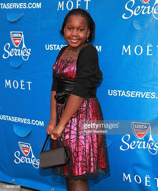 Destiny StewardBowden attends the 13th Annual USTA Serves Opening Night Gala at USTA Billie Jean King National Tennis Center on August 26 2013 in New...