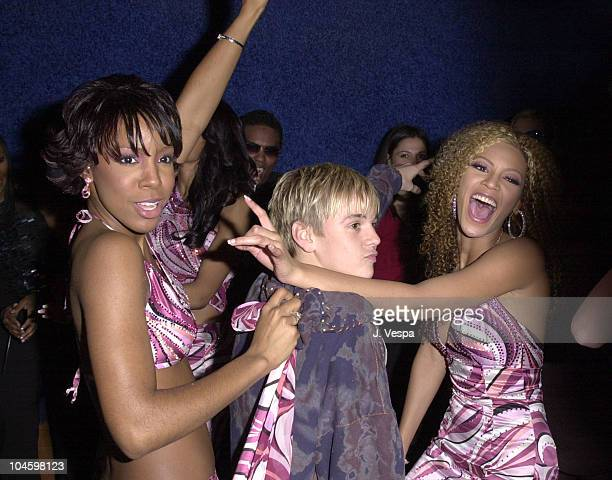 Destiny's Child Aaron Carter during The 28th Annual American Music Awards Columbia Records After Party at Las Palmas in Hollywood California United...