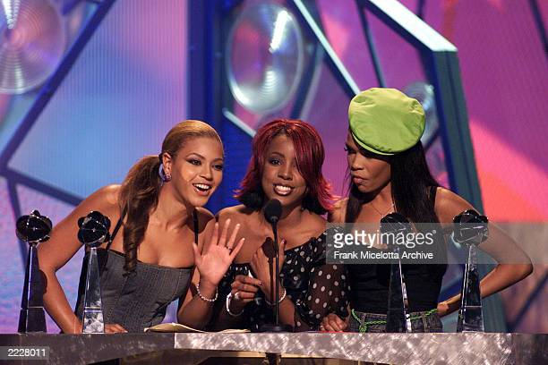 Destiny's Child accept their award for Artist of the Year at the 2001 Billboard Music Awards at the MGM Grand Hotel and Casino in Las Vegas NV...