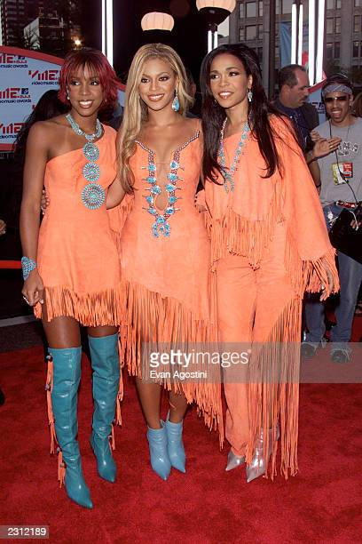 Destiny's Child arriving at the 2001 MTV Video Music Awards held at the Metropolitan Opera House at Lincoln Center in New York City 9/6/01 Photo by...