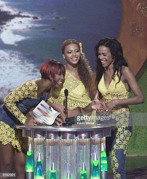 Destiny's Child at the 2001 Teen Choice Awards held at the Universal Amphitheatre in Los Angeles CA August 12 2001