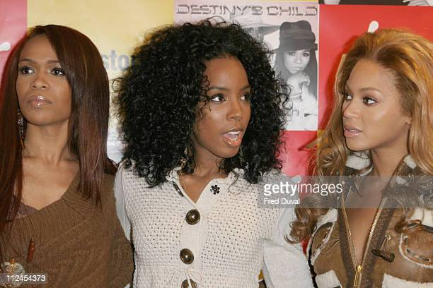 Destiny's Child at Virgin Megastore where the band members were signing the single 'Lose My Breath' which is already a Top 5 record on the Billboard...