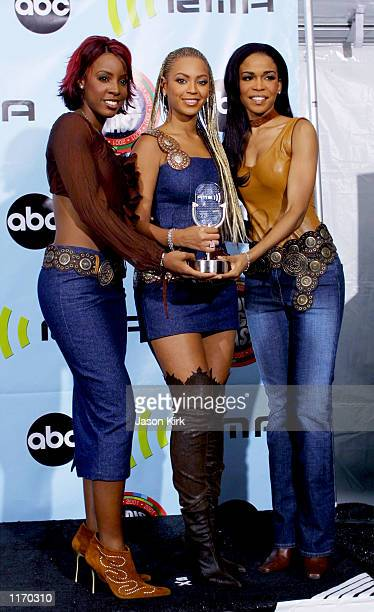 Destiny's Child attend the 2001 Radio Music Awards at the Aladdin Resort and Casino October 26 2001 in Las Vegas NV