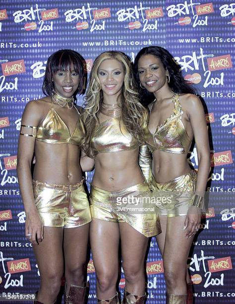 Destinyís Child attend The 21st BRIT Awards with Mastercard, Earls Court 2, London, UK, Monday 26 February 2001.