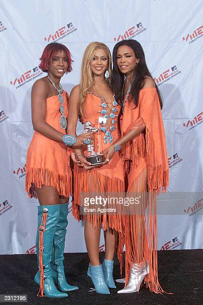 Destiny's Child backstage at the 2001 MTV Video Music Awards held at the Metropolitan Opera House at Lincoln Center in New York City 9/6/01 Photo by...