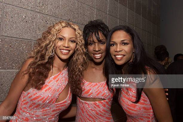 Destiny's Child backstage at the MGM Grand in Las Vegas after the 2000 Billboard Music Awards. December 5, 2000