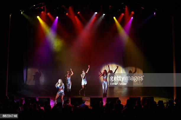 Destiny's Child Beyonce Knowles Farrah Franklin Kelly Rowland and Michelle Williams performs at The Joint inside the Hard Rock Hotel Casino July 2...
