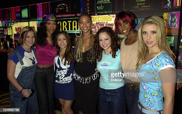 Destiny's Child Dream during MTV's 'TRL' Tour July 12 2001 at MTV Studios in New York City New York United States
