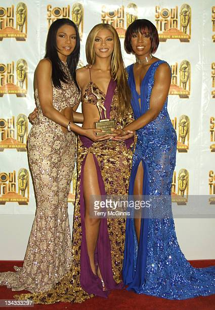 Destiny's Child during 15th Annual Soul Train Awards at Shrine Auditorium in Los Angeles California United States