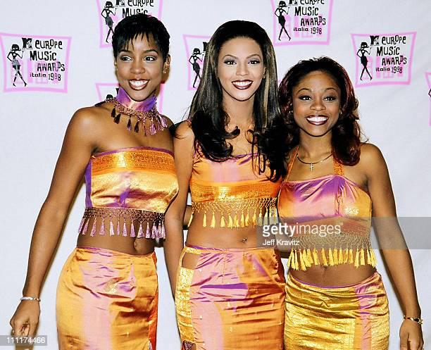 Destiny's Child during 1998 MTV European Music Awards in Milan, Italy.