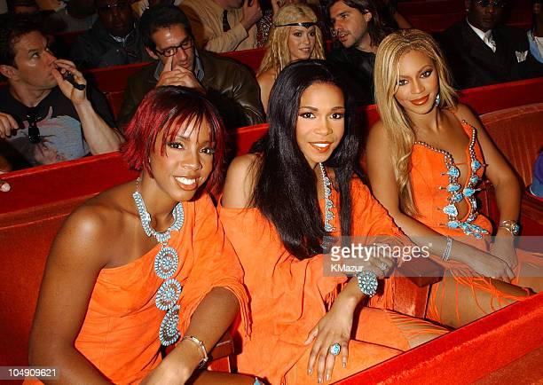 Destiny's Child during 2001 MTV Video Music Awards Audience and Backstage at The Metropolitan Opera House at Lincoln Center in New York City New York...