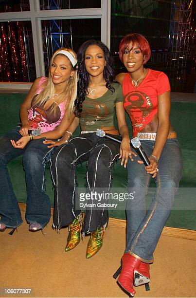 Destiny's Child during betcom User Wins Prize of Dreams Meeting Destiny's Child at BET Studios in New York City New York United States