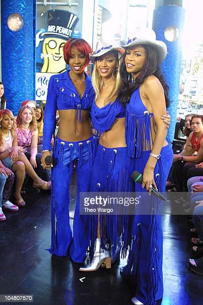 Destiny's Child during Destiny's Child Visit MTV's TRL May 1 2001 at MTV Studios in Manhattan New York United States