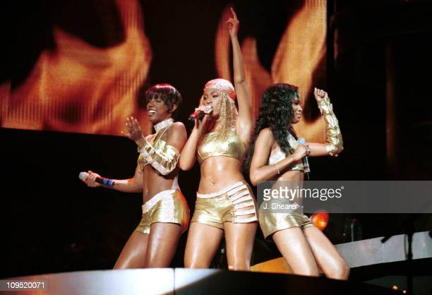 """Destiny's Child during MTV's """"TRL"""" Tours Bay Area - September 1, 2001 at Chronicle Pavilion in Concord, California, United States."""