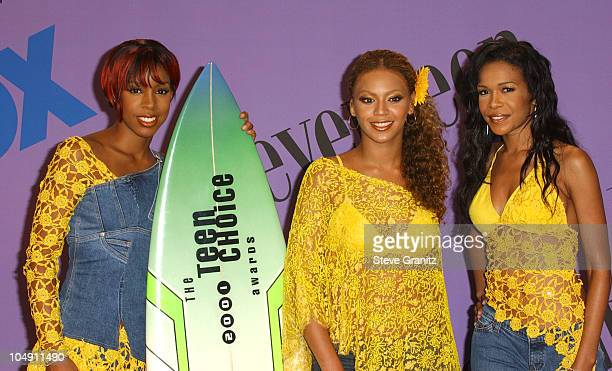 Destiny's Child during The 2001 Teen Choice Awards Press Room at Universal Amphitheater in Universal City California United States