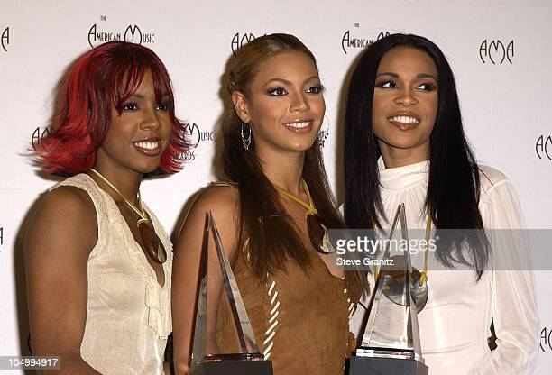 Destiny's Child during The 29th Annual American Music Awards Press Room at The Shrine Auditorium in Los Angeles California United States