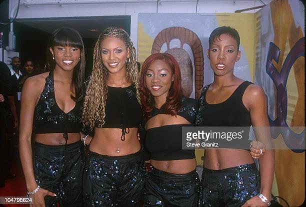 Destiny's Child during The 5th Annual Soul Train Lady of Soul Awards at Santa Monica Civic Auditorium in Santa Monica California United States