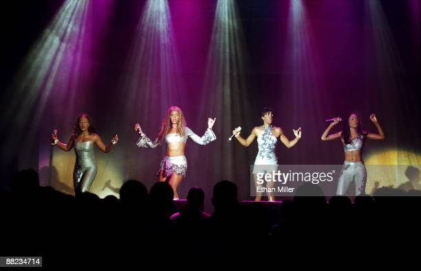Destiny's Child Farrah Franklin Beyonce Knowles Kelly Rowland and Michelle Williams performs at The Joint inside the Hard Rock Hotel Casino July 2...