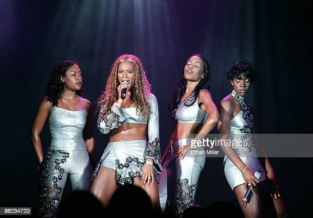 Destiny's Child Farrah Franklin Beyonce Knowles Michelle Williams and Kelly Rowland performs at The Joint inside the Hard Rock Hotel Casino July 2...