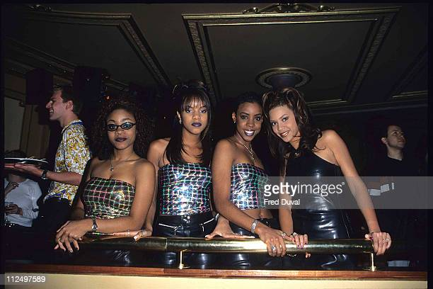 Destiny's Child featuring Beyonce Knowles during Destiny's Child photocall at the Fashion Cafe at Fashion Cafe in London Great Britain